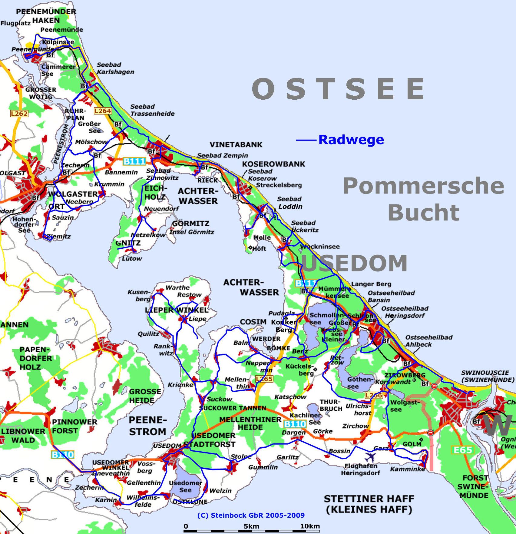 radwege usedom karte pdf Fahrradwege Usedom Karte | creactie