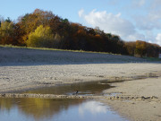 Wunderbare Farben: Herbst am Usedomer Ostseestrand.